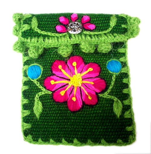 12 Peru Cell Phone Pouches Handmade Ayacucho Embroidered Woven
