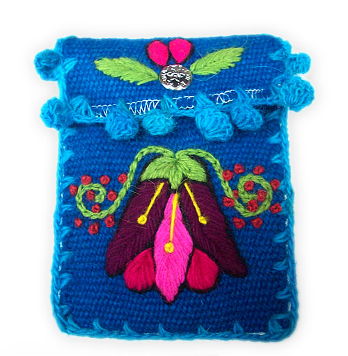 04 Peru Cell Phone Pouches Handmade Ayacucho Embroidered Woven