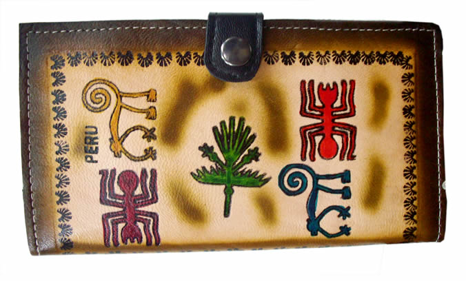 06 Peruvian Andean Documents Holder Handmade Leather Mixed Image