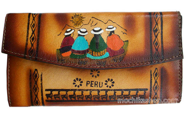 03 Andean Documents Holder Handmade Leather Cholitos Images