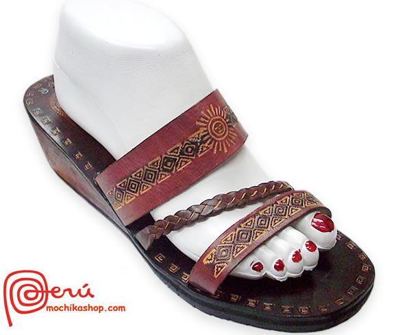 Lovely  Pretty Leather Sandal Ethnic Design Model 10