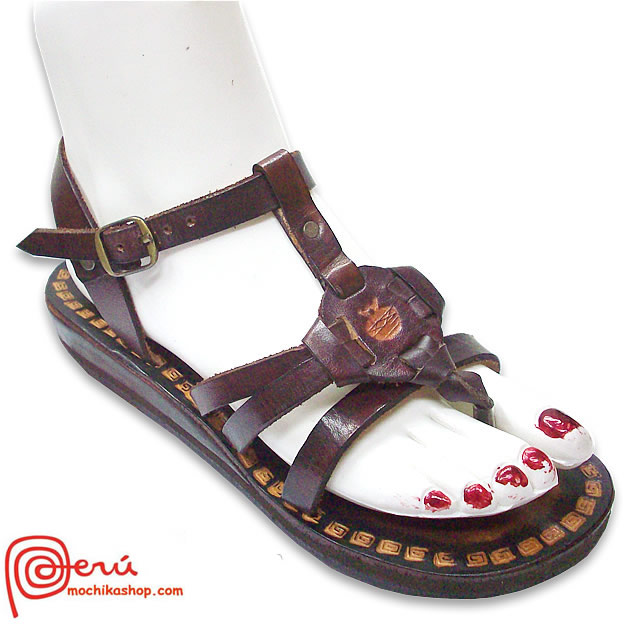 Precious Leather Sandal Ethnic Design Model 11