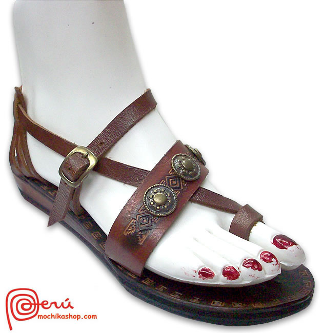 Nice Leather Sandal Ethnic Design Model 07