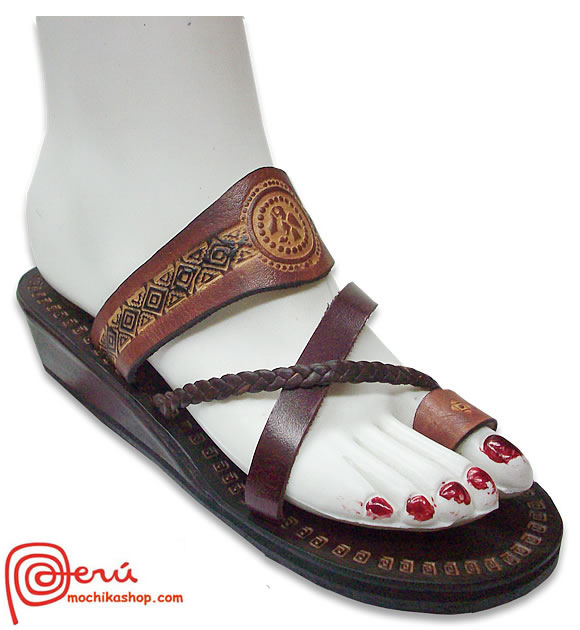 Native Leather Sandal Ethnic Design Model 09