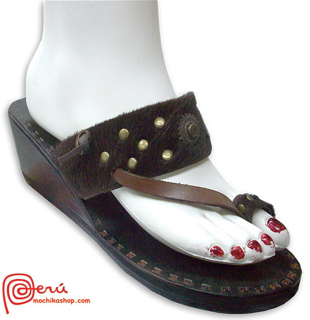 Boho Leather Sandal Ethnic Design Model 08