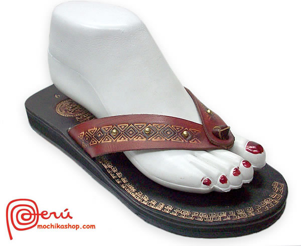 Pretty Peruvian Leather Sandal Ethnic Design Model 12
