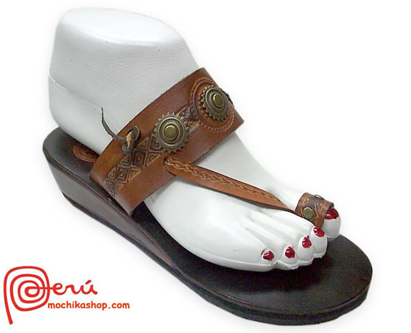 Nice Peruvian  Pretty Leather Sandal Ethnic Design Model 13