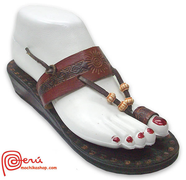 Beautiful Peruvian  Pretty Leather Sandal Ethnic Design Model 14