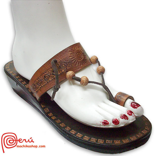 Gorgeous Leather Sandal Ethnic Design Model 03