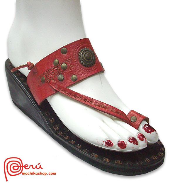 Cute Leather Sandal Ethnic Design Model 04