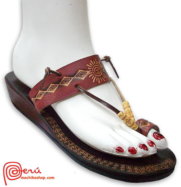 Tribal Leather Sandal Ethnic Design Model 05