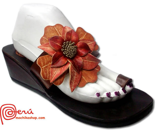 Side Flower Peruvian Andean Sandals