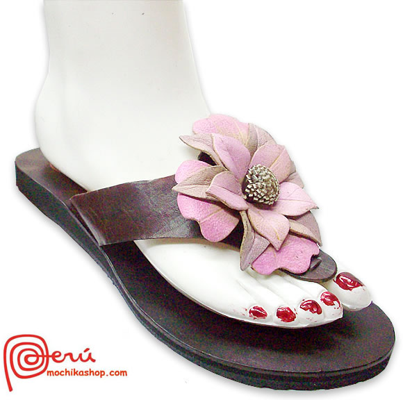 Center Flower Peruvian Andean Sandals