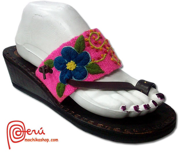 Embroidered Design Peruvian Andean Sandals