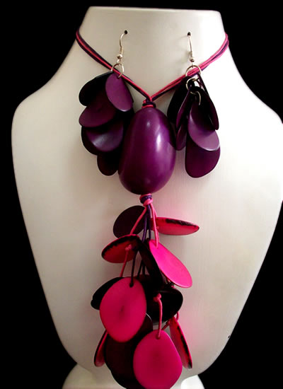 Lot 24 Wholesale Tagua Chips Sets Necklaces Bunch Design