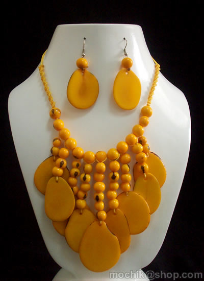 Bunch Acai Seeds Tagua Sets Necklaces
