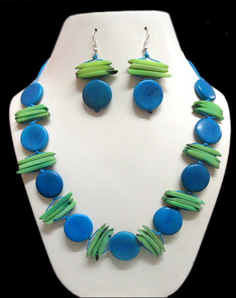 Button Design Tagua Sets Necklaces