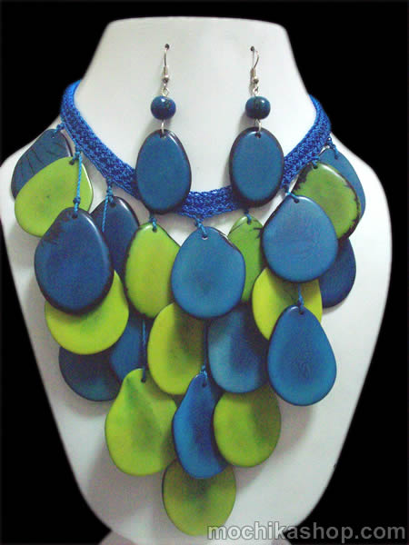 Tagua Woven Crochet Sets Necklaces