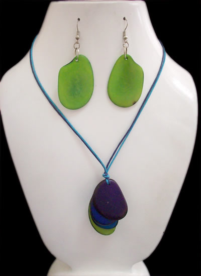 Lot 24 Wholesale Handmade Tagua Sets Necklaces Simple Design