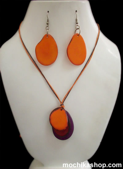 Flat Seeds Tagua Simple Sets Necklaces