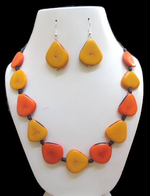 12 Peruvian Wholesale Handmade Tagua Heart Sets Necklaces