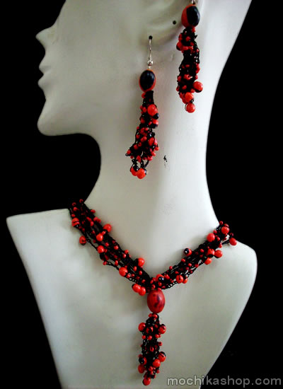 Huayruro Seed Beads Sets Necklaces