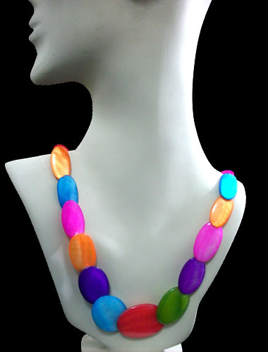 Wholesale 12 Mother of Pearl Necklaces Handmade Multi Color