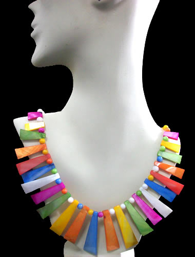 100 Wholesale  Mother of Pearl Necklaces Handmade Multi Color