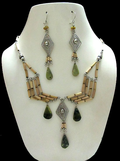 Lot 24 Peruvian Exotic Handmade Bamboo Sets Necklaces