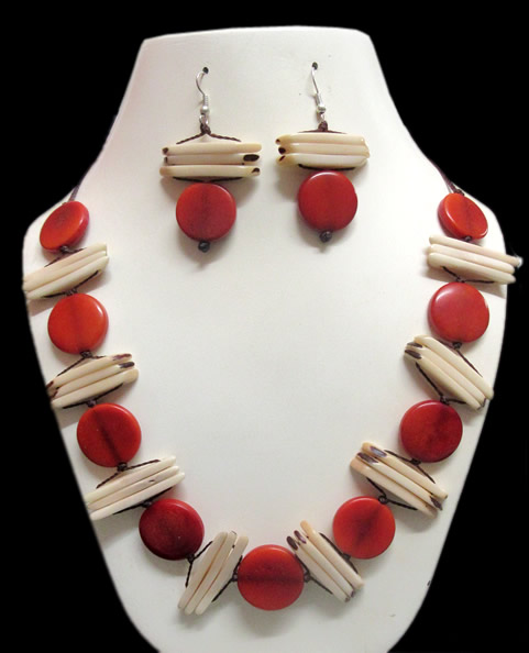 12 Inca Wholesale Handmade Tagua Sets Necklaces Button Design