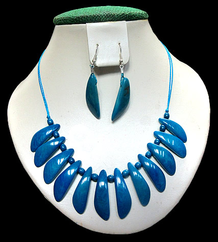 06 Peru Handmade Tagua Peaks Sets Necklaces Tribal Design
