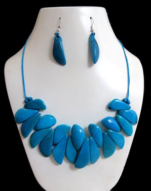 04 Tribal Nice Handmade Tagua Sets Necklaces Inca Design