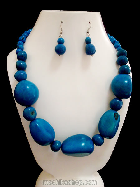 12 Inca Wholesale Tagua Sets Necklaces and Bombona Seed Beads