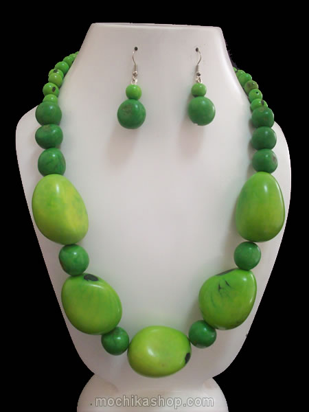 Tagua Seed Beads Sets Neckalces