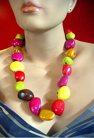 Seed Beads Peruvian Tagua Necklaces
