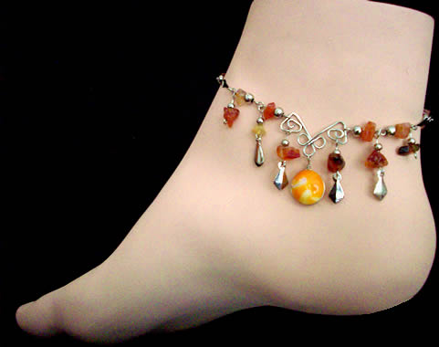 25 Alpaca Silver Anklets Handmade Murano Glass Assorted Designs