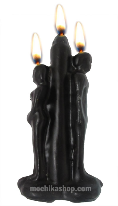 Black Separation Candle to Break Up Love Spell - Pack x 12 Units