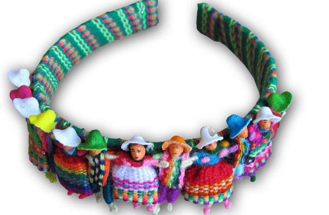 Peruvian Andean Worry Dolls Hair Headband