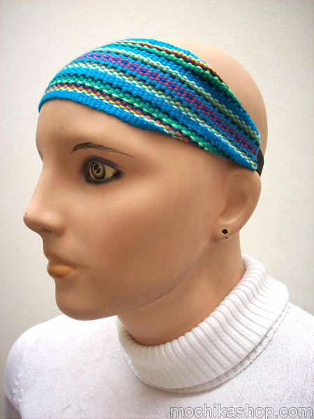 16 Wholesale Peruvian Handmade Fabric Headbands Assorted Colors