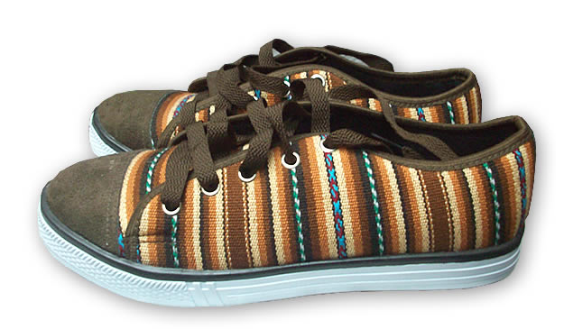 Gorgeous Peruvian Cusco Blanket Andean Sneaker Brown Color