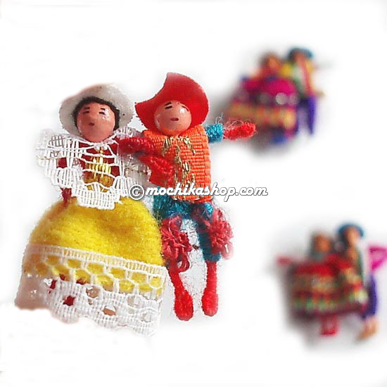 Peruvian Worry Dolls Brooches
