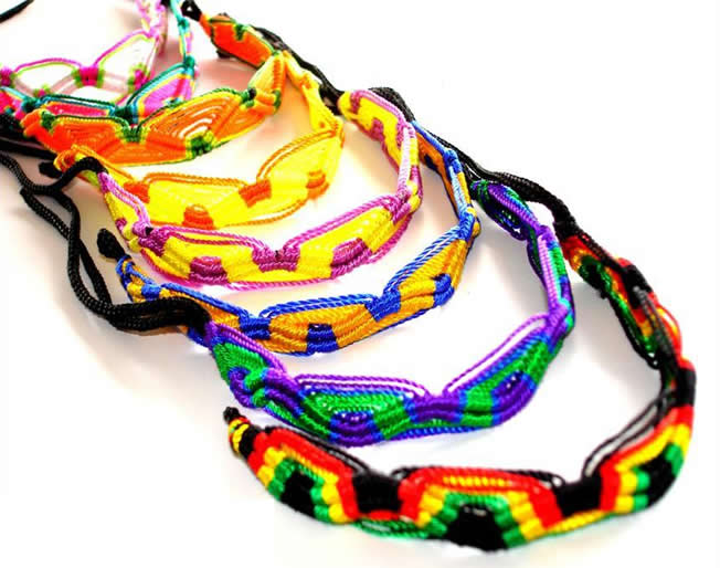 50 Wholesale Classic  Hand Woven Friendship Bracelets