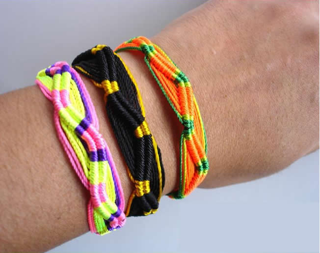 500 Wholesale Classic  Hand Woven Friendship Bracelets